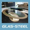 Glass & FRP Oval Coffee Table CJ158