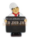 Polyresin Figurine Chef holds menu board