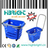 plastic carry basket with wheels