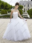 Elegant Customer Made Full Length Strapless Ball Gown Quinceanera Dress Patterns QV-082