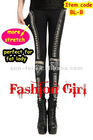HOTTEST~( 4 style ) Fishnet Lace Bullet Beaded Embellished Leggings, Bullet Paneled Leggings, Bullet Leggings~DHL FREE SHIPPING