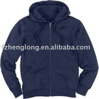 Men's long sleeves T/C french terry full zip hoodie sweatshirt