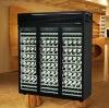 High Quality 3door Compressor Humidity Control Beverage or Wine Bottle Display Cooler Showcase Restaurant Refrigeartor Equipment