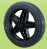 1011 Black PP Rubber Wheel