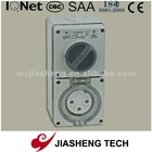 Three Phase 56CV332 IP66 32A 3 Pin Combined Switch Socket
