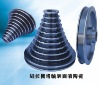 Ceramic coated tower pulley for fine-extension
