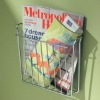Metal Wire Magazine Rack Chrome