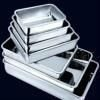 Shiny Stainless Steel Serving Trays