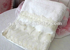lace jacquar terry soft bath towel