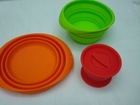 collapsible bowl, non sticky silicone bowl with lid