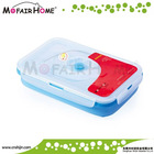 Kitchenware rectangle foldable silicone bulk food containers