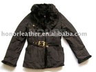 women real leather coat