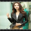 Fashion Double Zipper Slim Fit Cool Leather Jacket