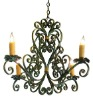 Wrought/Cast Iron Chandelier, Wrought iron light, wrought iron lamp, wrought iron lantern