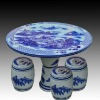 antique blue and white ceramic garden stool table set RYAY262