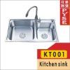 KT001 stainless steel kitchen sink,indian ktichen design,stainless steel sink,free standing sink,farm,campaing sink,kitchen sink