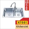 KT001 stainless steel kitchen sink,indian ktichen design,stainless steel sink,free standing sink,farm,campaing sink,kitchen sink