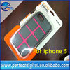 Hot!!! high quality protective plastic cover case for iphone 5