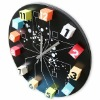 Magnetic Wall Clock,magnetic clock,art clock,fashion clock,promotional products