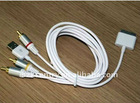 for iPhone 4 AV Cable with USB jack be with iPad 2,For i-Touch AV Cable.For iPhone 3GS av cable