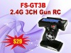 2012 Best selling in My Store-FS-GT3B 2.4G 3CH Transmitter for RC Car Truck 2.4GHZ