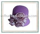 ladies purple wool cloche felt hat