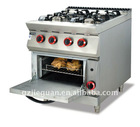 Kitchen equipment:Gas Range/4 Burner with Gas Oven GH-987A-2