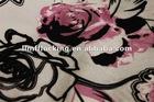the newest design 100%polyester flock on flock & print sofa fabric
