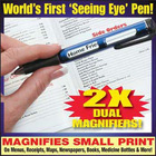 2 in 1 Reading glasses pen magnifier pen