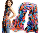 women's fashion chiffon print scarf silk in many colors
