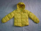 Wholesale & Retail Girls Hooded Down Coat/jacket--Yellow
