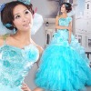 2011 new Full of mysterious charm and elegant atmosphere of pure and fresh and elegant light blue dress LF681