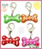 2012 hot metal bone pet dog charms with enamel and rhinestone