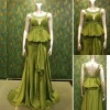 christmas promotion real sample satin evening dress 21692