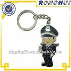 new item/metal soft enamel/plicemen keychain/keyring gift