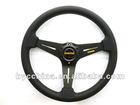 New Arrive Cheapest MOMO Black PU Flat Steering Wheel