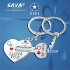 "Newest Verliebt ""I LOVE YOU"" Zinc Alloy Lovers metal keychain crafts"