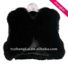Black fox fur vests