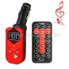 Car MP3 FM Transmitter with Remote Control, Supports USB Flash Disk & SD/ MMC/ TF Card