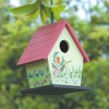 Mini Decorative Hand Painted Wood Bird Cage