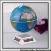 High quality geography rotating solar powered plastic globe teaching tools