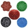 Cinnabar Carved Beads