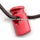 YD-NCL02 1-hole red plastic cord stopper