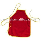 Promotional red cooking apron