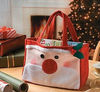 Santa Claus Ho Ho Christmas Santa Holiday Gift Bag Believe Shopping Tote Favor