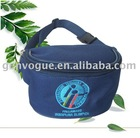 Dark blue waist bag made of 600D polyester