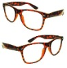 Tortoise color fashion sunglasses with clear lenses MOD.:SY2801