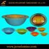6pcs colored oval melamine mixing bowl set