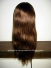 Dark brown remy indian hair lace wig