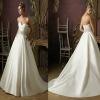 MODERN STYLE SWEETHEART A-LINE SATIN WEDDING DRESS BEST-1144